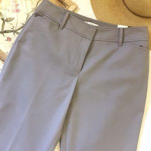 NWT LOFT Ann Fit Grey Stretch Slacks